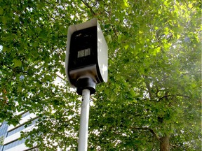 An automated speed-enforcement camera at the intersection of Boundary Road and Kingsway Avenue in Burnaby on July 29, 2019.