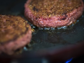 Beyond Meat burgers. The vegan burger maker emerged as this year's darling in the IPO market with shares surpassing US$200 last month compared with a US$25 offering price.