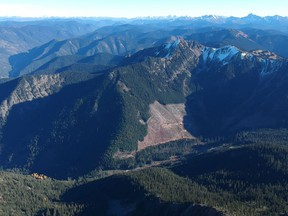 This photo is looking from near the top of Silverdaisy Peak.