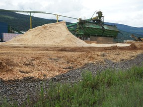 Canfor Corp.'s closed sawmill in Vavenby.