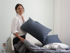 AREA founder and designer Anki Spets. Photo: AREA for The Home Front: How to make a Scandinavian bed by Rebecca Keillor [PNG Merlin Archive]