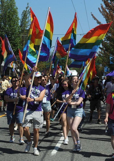 VANCOUVER, BC., August 4, 2019 -  Scenes from the 2019 Vancouver Pride Parade in Vancouver,  BC., August 4, 2019.  (NICK PROCAYLO/PNG)   00058300A ORG XMIT: 00058300A [PNG Merlin Archive]