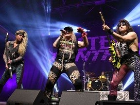 Steel Panther rock out in Munich on Feb. 6, 2018.