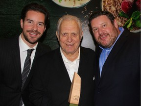 The Heras family's 7 Seas Seafood was inducted into the BCFB Hall of Fame last month. Flanked by sons Nick and George, John Heras founded the Vancouver Fish Company in 1967.