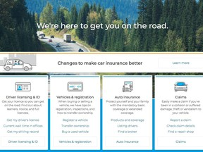 ICBC website home page, icbc.com, on Oct. 30, 2019.