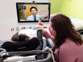 COVID-19 has led to more virtual doctor's visits. In this file photo from 2019, a child has an online appointment with a specialist at B.C. Children's Hospital.