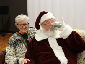 Gary Haupt, a Santa Claus in Penticton, was fired by Cherry Lane Shopping Centre for posting what they say are inappropriate photos on social media. This is one of the photos from Facebook. The flask was not open for this joke photo.
