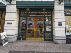 Einstein Exchange, in the building at 736 Granville St. in downtown Vancouver, has been taken over by a receiver.
