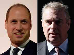 Prince William and Prince Andrew. (Getty Images)