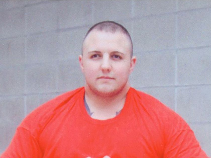 Jamie Bacon posed for this photo while in prison in 2010.