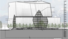 Artist's rendering of the Lululemon mothership, viewed from the south side.