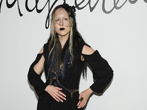 Singer Allie X attends the Schiaparelli Haute Couture Spring/Summer 2020 show as part of Paris Fashion Week on January 20, 2020 in Paris, France.
