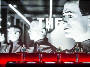 JULY 03 2014. German electronic group Kraftwerk in concert  at Queen Elizabeth Theatre  in Vancouver, BC, on July 3,  2014.    (Steve Bosch  /  PNG staff photo) [PNG Merlin Archive]