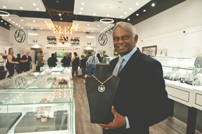 Founder Ken Selvaraja in the Lanka Jewels showroom in Mission, B.C., before the COVID-19 pandemic.