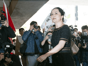 Huawei executive Meng Wanzhou arrives at B.C. Supreme Court on May 27.