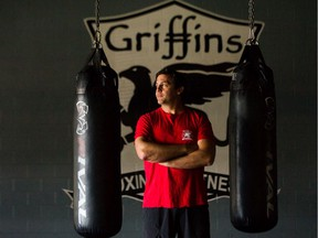 Dave Brett inside his Griffin's Boxing and Fitness gym in North Vancouver. Brett is doing a soft reopening as Phase 2 COVID-19 easing begins. (photo by Arlen Redekop)