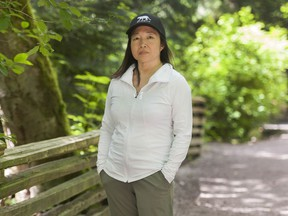 Pamela Ip at Pacific Spirit Park in Vancouver. Ip has noticed an increase in micro-aggressions aimed against her since the outbreak of COVID-19.