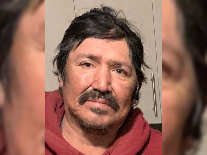 Oliver Traverse is an Indigenous man, about 5-foot-8 or 5-foot-9, with a slim build and black medium-length curly hair with a black goatee. He has a tattoo of an eagle on his left arm and was last seen wearing a white Winnipeg Jets baseball cap, a jean jacket over a burgandy hoodie, black baggy jeans and beige shoes.