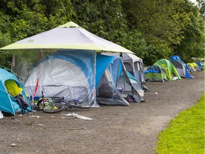 Strathcona Park camp in July 2020