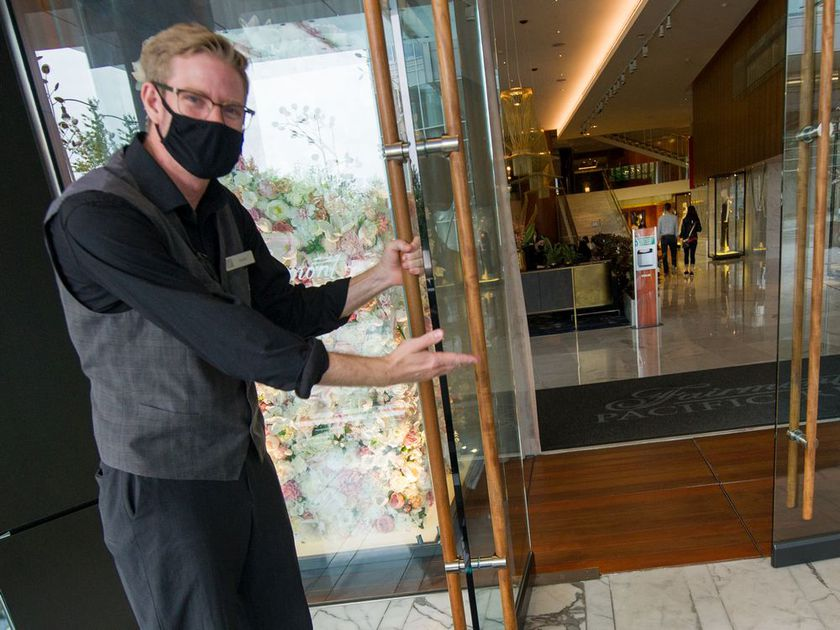Masked doorman Travis is your first hint that the 'new normal' of your staycation at the Fairmont Pacific Rim will be a little different than what you are accustomed to.