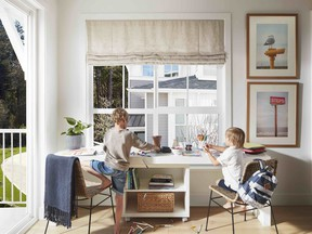 Home office designed by Mosaic Homes.