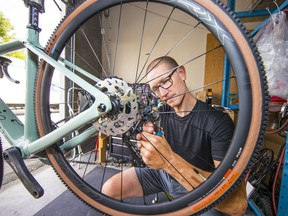 Brodie Bicycles co-owner Andrew Summers says the business sold all of its inventory 'faster than I've ever seen it' last spring. 'We were all taken aback. We're in the business of selling things and we had nothing to sell.'