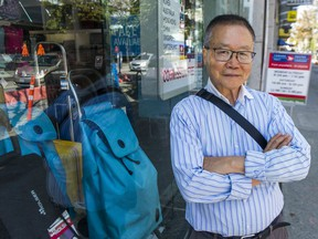Simon Lee is the owner of Vancouver Luggage Warehouse on Robson Street.