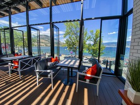 Elma is an artfully decorated space with views of Lake Okanagan.