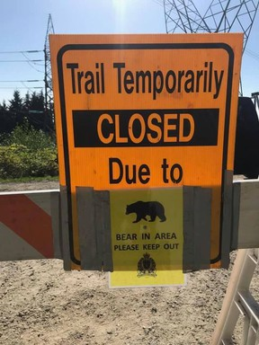 The Coquitlam Crunch trail is set to reopen Tuesday after efforts to trap a bear were unsuccessful.