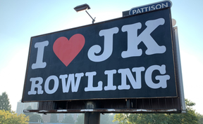 The billboard in East Vancouver was covered up shortly after it drew attention.