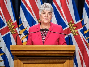 Carole James, Minister of Finance, on June 1, 2020. The Ministry released a report on Thursday that projects a $13 billion deficit for the 2020-21 fiscal year.