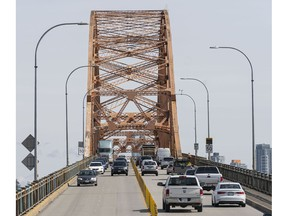 The average weekday volume on the Pattullo Bridge has fluctuated slightly over the last six months, dipping as low as 66.5 per cent in March and going as high as 90.5 per cent in July.
