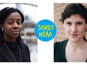 Sandy Hudson (l) and Nora Loreto will be taping their hit podcast Sandy & Nora Talk Politics in front of the Vancouver Podcast Festival online audience. The third annual festival runs Nov. 18-22, 2020.