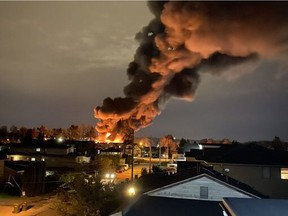 Anna Blefare took these photos of a fire burning Monday, Oct. 12 in Queensborough.