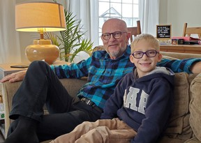 For Craig, seen here visiting with his grandson, the hurt of losing a close friendship after his diagnosis of dementia has made him more grateful for the supportive friends and family in his life. SUPPLIED