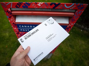 Mail-in ballots are not counted until a couple of weeks after the election. There are so many of them this time that we may not know who forms the government until well into November.