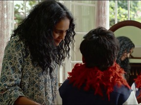 Agam Darshi (left) plays Radha the supportive and cool aunt to Arjie (Arush Nand) in the new Deepa Mehta coming of age film Funny Boy. The film is in theatres now. It will begin streaming on CBC Gem on Dec. 4 and Netflix Dec. 10.