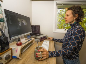 """""""I loved being in the office. It's a really social environment,"""" says Nicole Wright, an analytics engineer at Unbounce who has been working out of her home almost exclusively since the pandemic hit."""