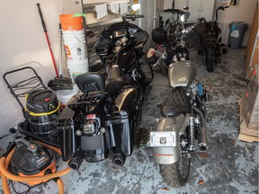 A handout photo of motorcycles seized by the Delta police. More than a dozen people have been arrested. The $18-million drug operation has links to both the Hells Angels and the UN gang.