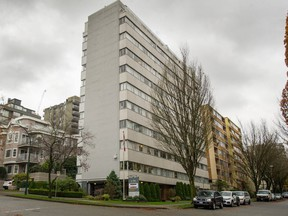An apartment building at 1461 Harwood St. is among 10 being sold by Hollyburn Properties.