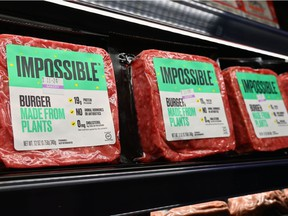 """""""Impossible Foods"""" burgers made from plant-based substitutes for meat products"""