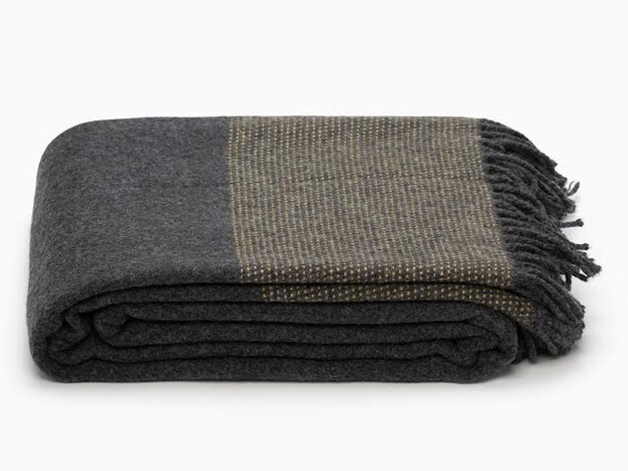 Cashmere and Merino Wool Throw from Old Faithful Shop