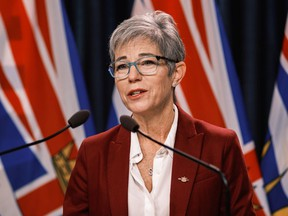 The Ministry of Finance says data from British Columbia's tax targeting property speculators shows it has helped increase the number of long-term rentals in the province. Finance Minister Selina Robinson is pictured here.