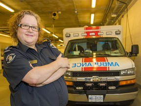 Paramedic Alison Stevens in North Vancouver.