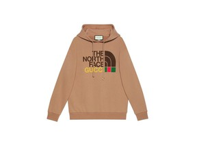 A hooded sweatshirt from The North Face x Gucci Collection.