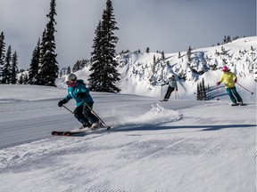Skiers at Whistler Blackcomb.