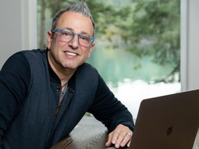 Michael Hefferon, president and COO of Vancouver-headquartered Mainframe Studios, at his recently established virtual office on Salt Spring Island.