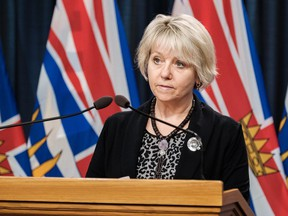 Feb. 16, 2021 -- The provincial health officer, Dr. Bonnie Henry delivers an update on COVID-19 in B.C. DON CRAIG/Government of B.C. [PNG Merlin Archive]