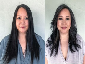Cindy Cabral makeover, before-and-after.