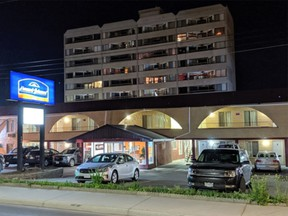 The Howard Johnson Motel is at 530 Columbia St. in downtown Kamloops, between fifth and sixth avenues.